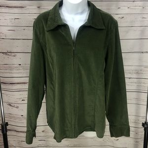 Dress Barn Velvet shirt/Jacket